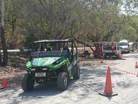 Quad bikes have joined the search for clues. Picture: Anna Rogers