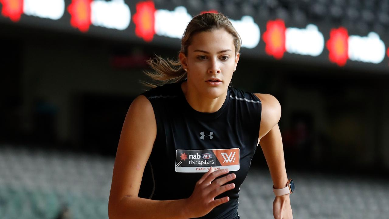 Lauren Bella is among those the Lions could target in Tuesday's draft. (Picture: Adam Trafford/AFL Media/Getty Images)