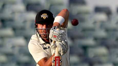 Marcus Stoinis scored 80 in the first round of the Sheffield Shield.
