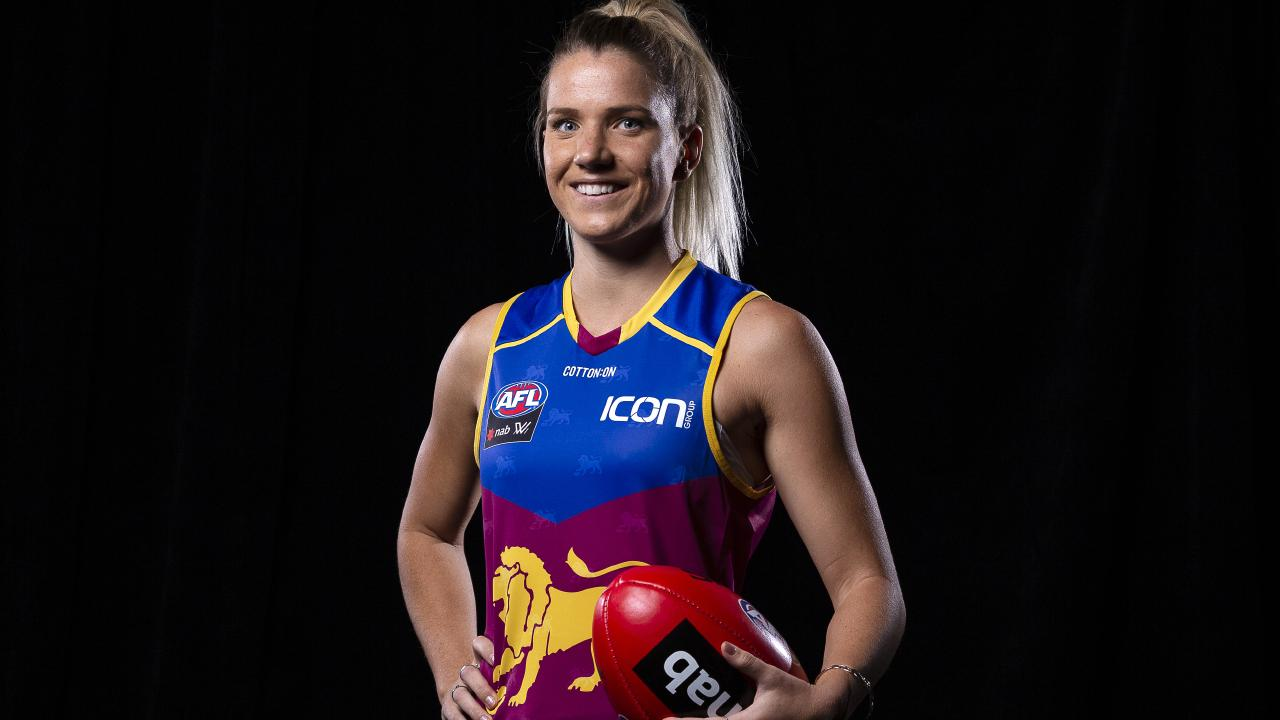 Paige Parker of the Lions after the AFLW draft.