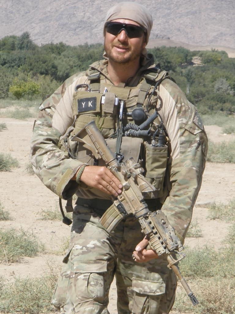 Voodoo Medic Tom Newkirk in the field. Picture: Supplied