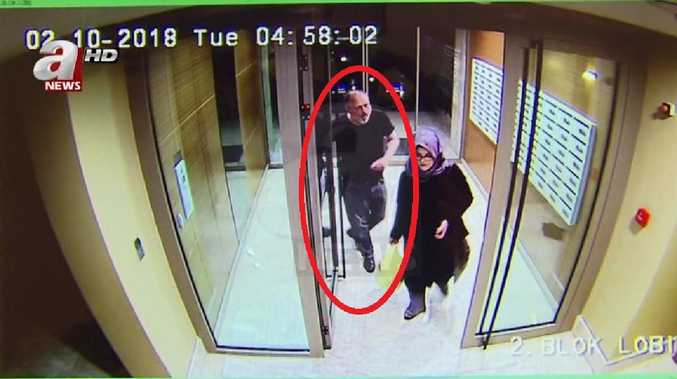 Jamal Khashoggi has been pictured in his final hours. Picture: A News