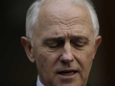 Malcolm Turnbull at a press conference shortly after he was ousted as prime minister. Picture: Sean Davey.