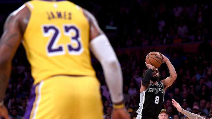 Patty Mills was ice cold down the stretch. Picture: AFP