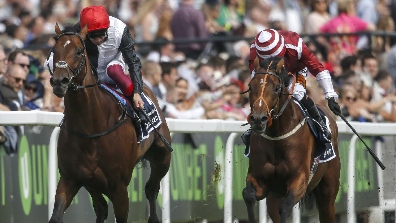 Cracksman (left) should be rated the world's best horse, according to English racing  commentator Mark Chapman. Picture: Getty Images