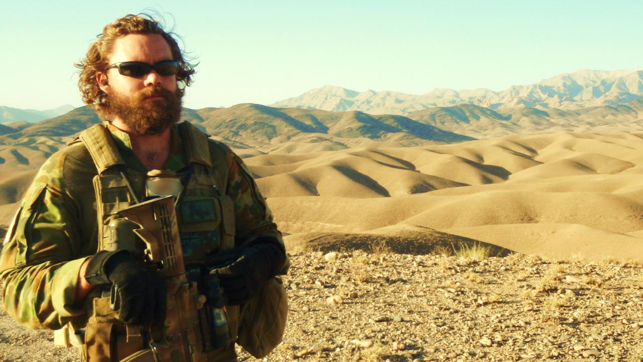 Voodoo Medic Major Dan Pronk in the field. Picture: Supplied