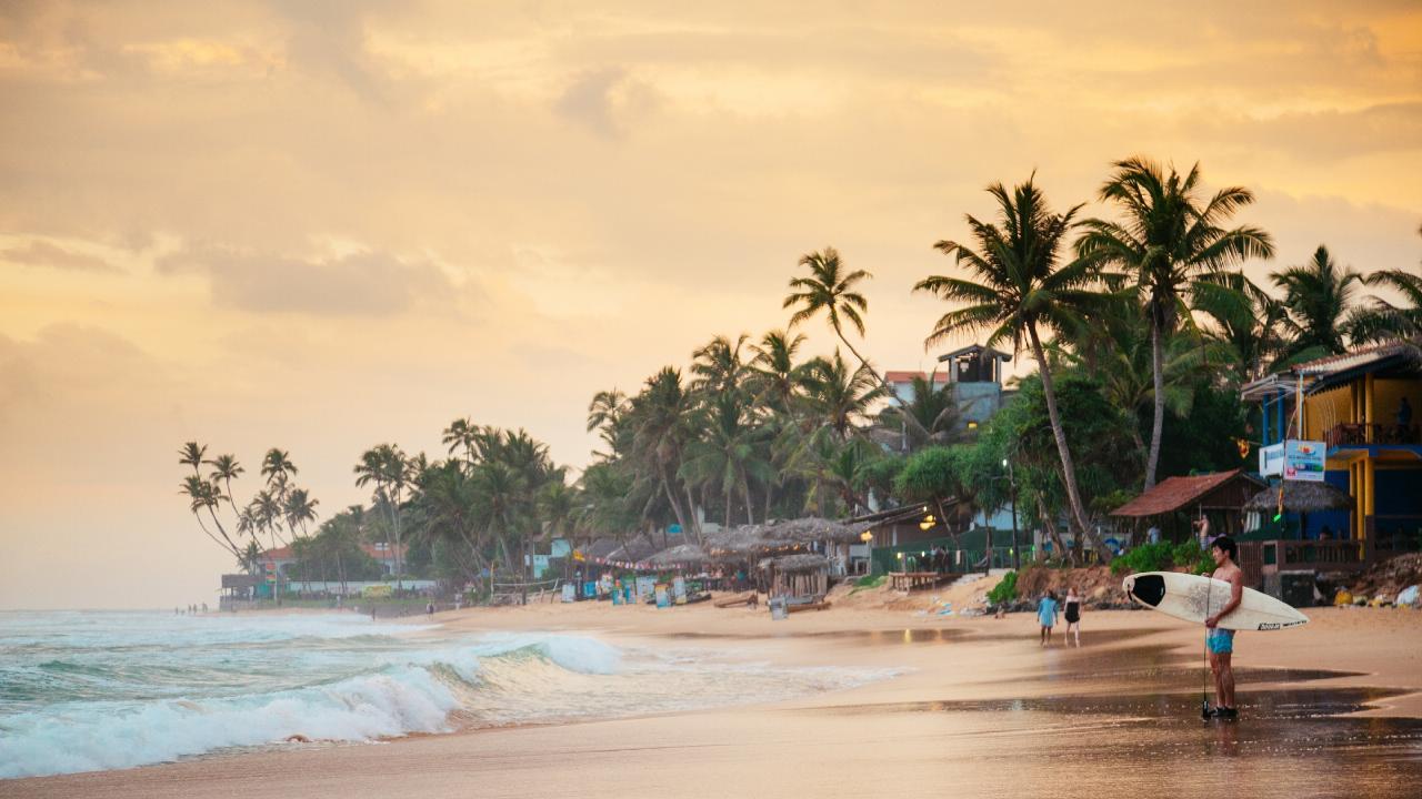 Narigama beach, Sri Lanka. Picture: Andrey Danilovich/Getty Images