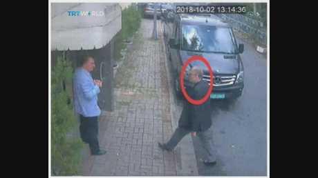 Khashoggi purportedly entering the consulate.