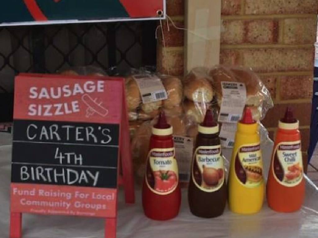 The party even featured a Bunnings sausage sizzle. Picture: Kylie Stingers