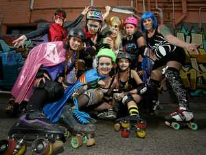 Get your skates on for this Halloween inspired roller derby