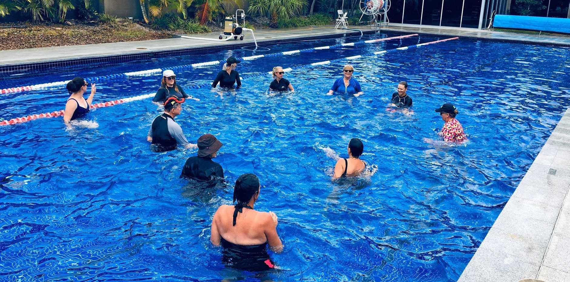 AQUA FITNESS: Pool classes at Seaspray Resort.