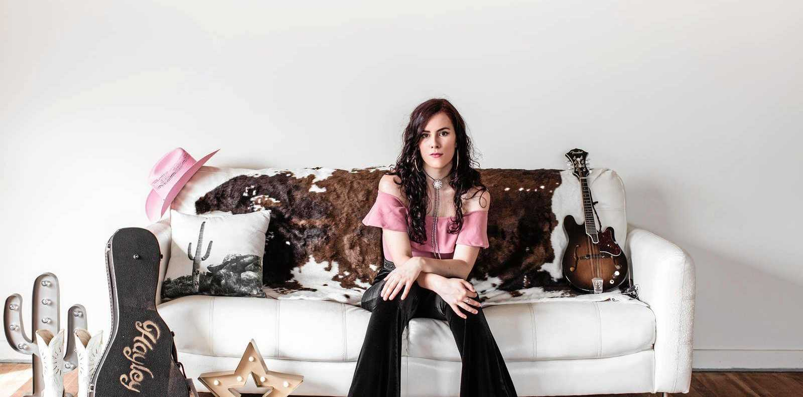 LOCAL PERFORMER: Former Gladstone now Brisbane based country western singer song writer Hayley Marsten is coming home for a Friday night gig.