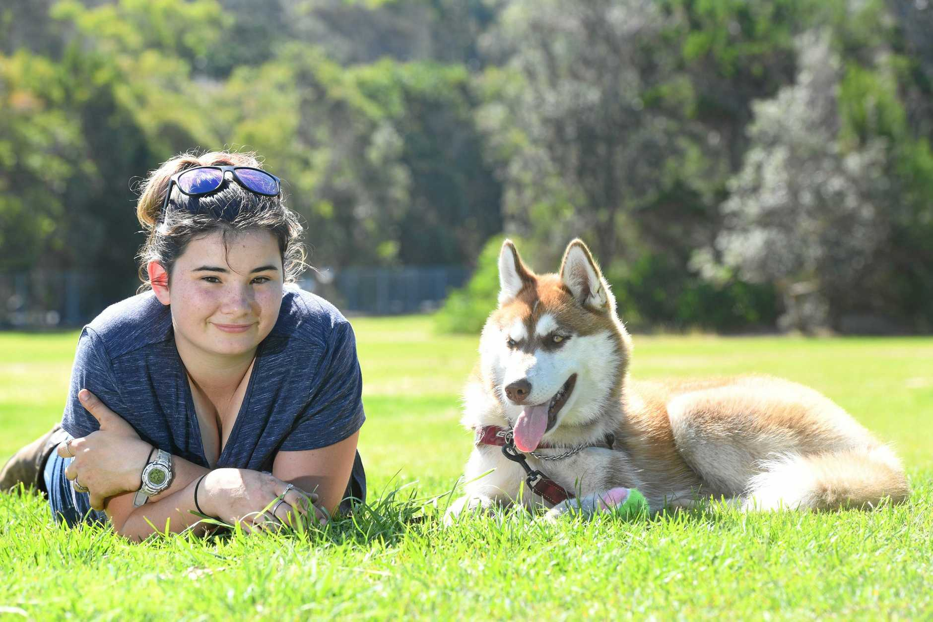 SAFETY APPEAL: Alana Staff is calling for the Ballina Shire Council to fence more of the off-leash dog park on Compton Dr at East Ballina.