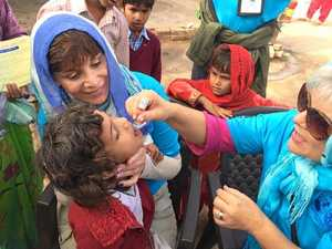 Local Rotarians help in the winning fight against polio