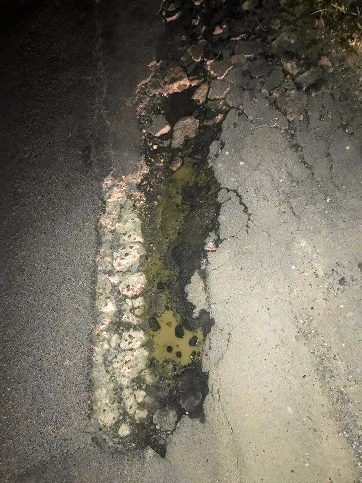 Coraki's Bella Kelly is calling for Lismore City Council to fix its roads after her brother and son were in a car accident after hitting a pothole. She said the pothole, located on Wyrallah Rd, past the tip and near the Hole in One Driving Range, was the cause of a