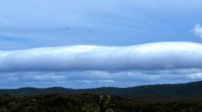 A roll cloud over Evans Head.