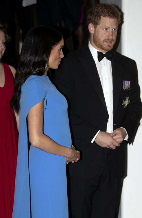 The couple looked elegant at the first black-tie event of their tour. Picture: Ian Vogler/Pool Photo via AP