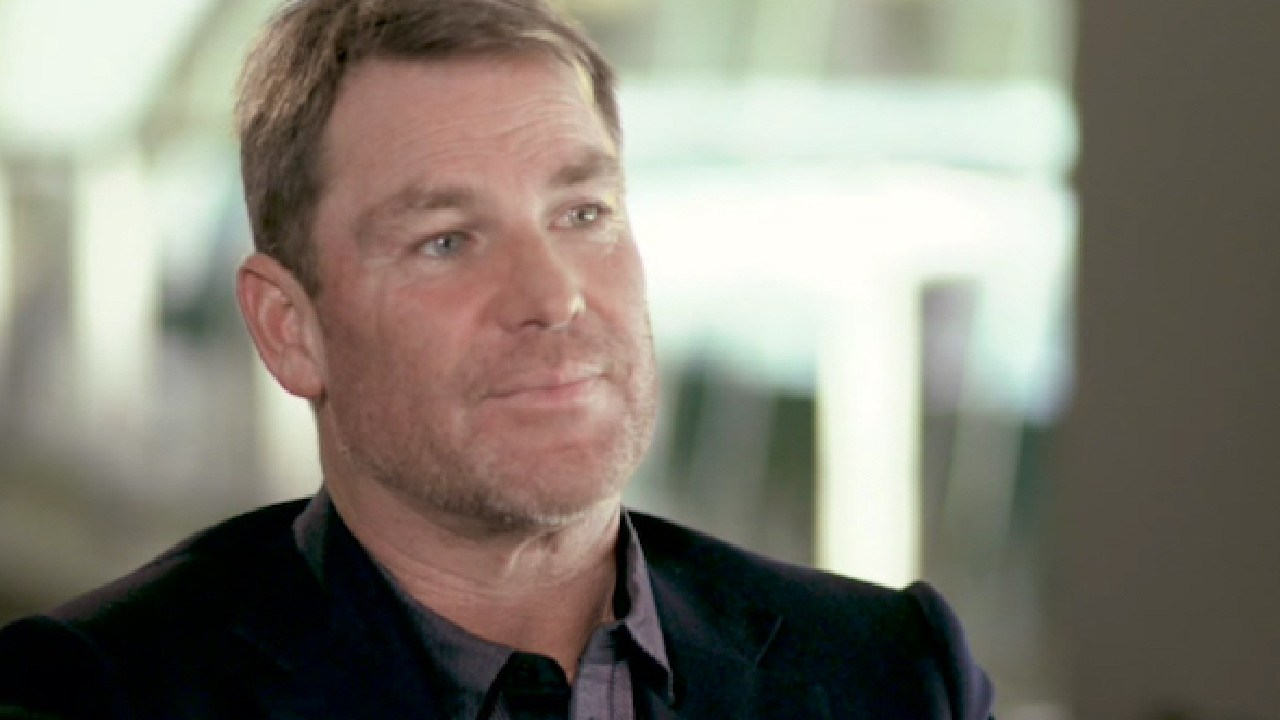 Shane Warne speaks on ABC's 7.30 with Leigh Sales.