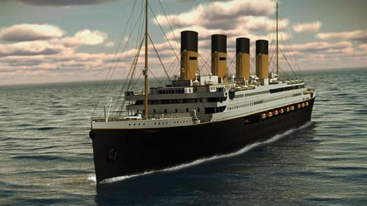 An artist's rendering of Titanic II. Picture: Blue Star Line