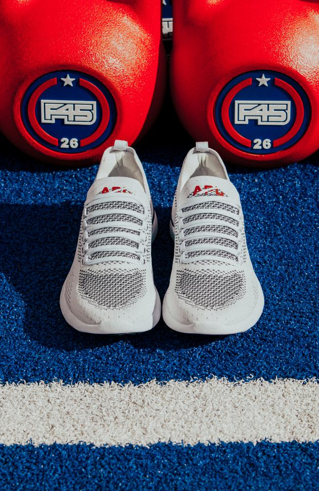 APL's sneaker collaboration with F45 are priced at $270. Picture: Supplied