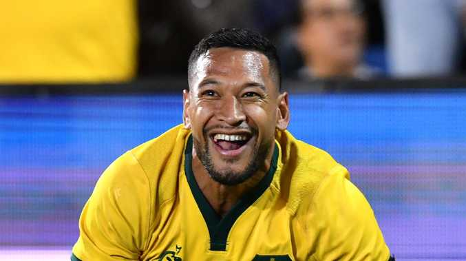 Israel Folau is locked in for four years. (AAP Image/Darren England)