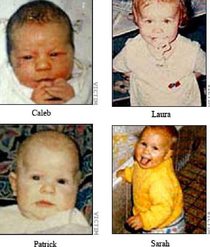 Folbigg's children Caleb, Laura, Patrick and Sarah.