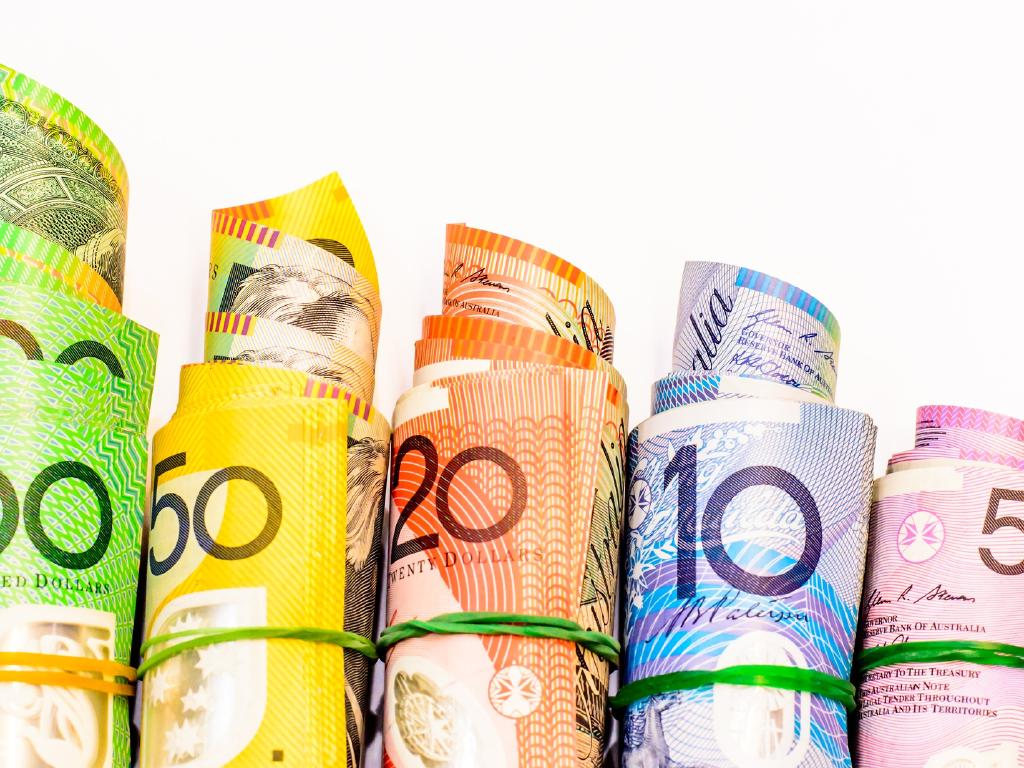 Colourful of Australian banknotes contain rendered animal fat, news which has come as a shock to vegans. Picture: Stock
