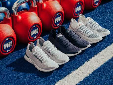 LA-based sneakers brand APL has launched a line of high-performance runners with fitness chain F45, designed around the chain's hardcore workouts. Picture: Supplied