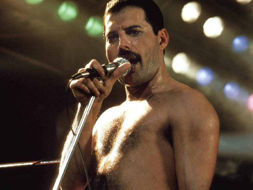 Freddie Mercury performing in Australia.