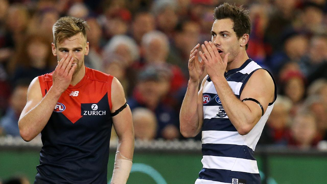 Daniel Menzel has been delisted by Geelong. Picture: Michael Klein