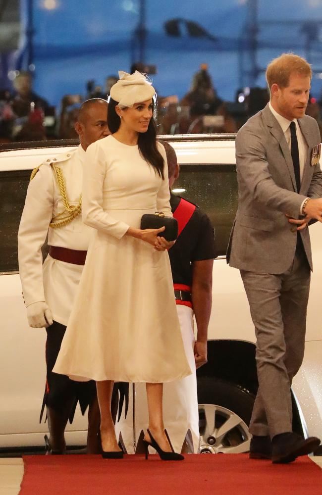 While still tailored, Meghan's Zimmerman dress was looser than other outfits she had worn in Australia