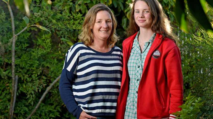 Carolyn Mitton and her daughter, Kaela, received  Legacy Westpac Grants. Picture: Naomi Jellicoe
