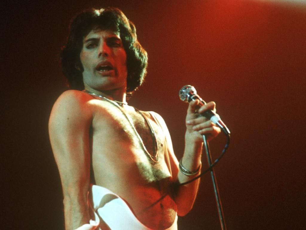 Freddie Mercury in the 1970s. Picture: Michael Ochs Archives/Getty Images