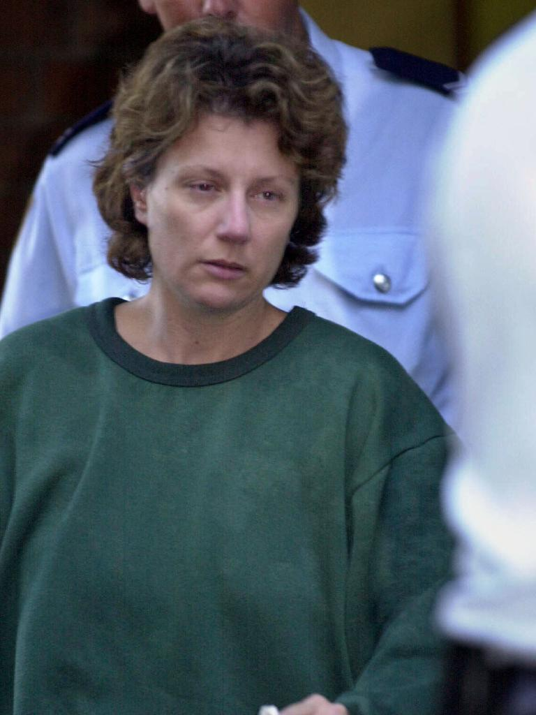 Kathleen Folbigg outside court after having bail refused in 2001.