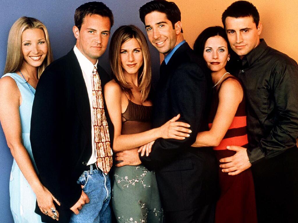 Friends stars Lisa Kudrow, Matthew Perry, Jennifer Aniston, David Schwimmer, Courteney Cox and Matt LeBlanc.