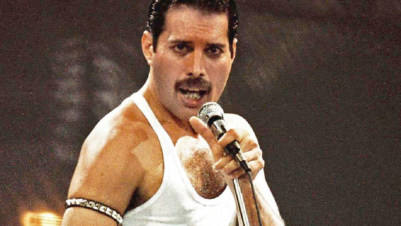 Freddie Mercury performs on stage at Live Aid on July 13, 1985. Picture: Peter Still/Redferns