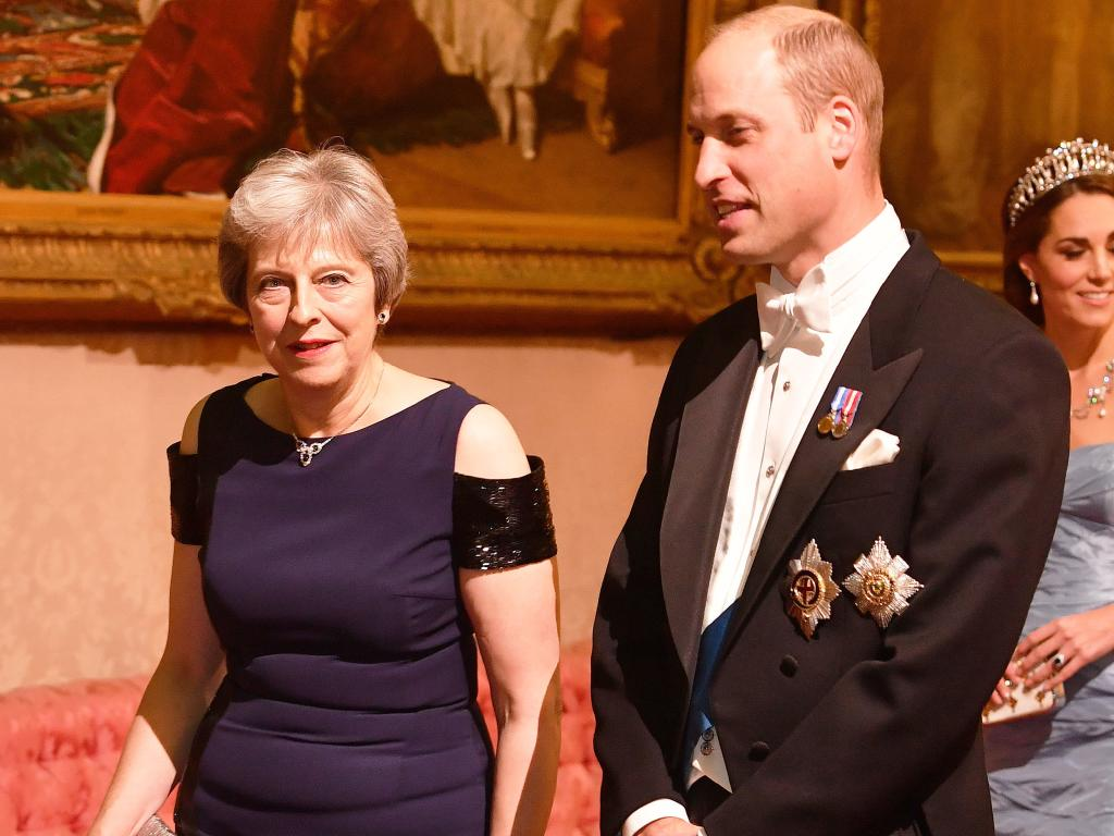 British Prime Minister Theresa May and Prince William.