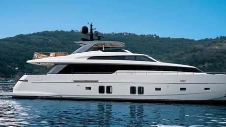 One of the yacht's for sale is this 2014 San Lorenzo 29m superyacht, named Italian Belle.