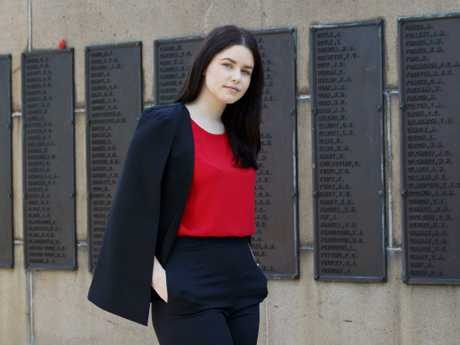Business Management student Kate MacInnes, 20, says  the  Westpac Legacy Scholarship saved her life.