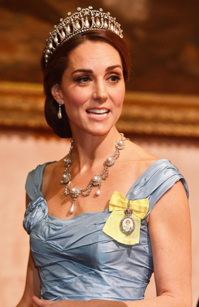 Kate was dripping in jewels. Photo: John Stillwell/PA Wire