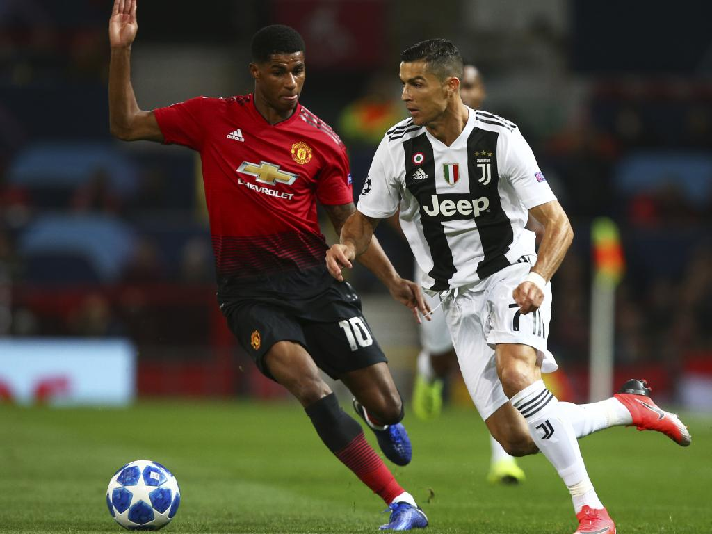 Ronaldo played for Juventus against former club Manchester United in the Champions League today.