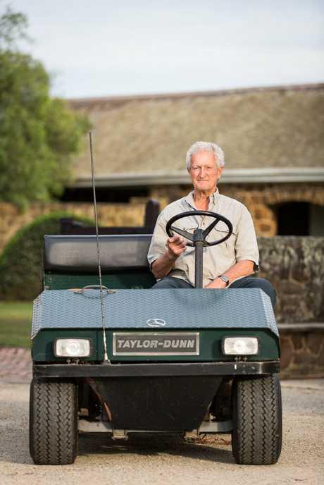 Cruden Farm's head gardener Michael Morrison in a scene from the TV documentary Inside Dame Elisabeth's Garden.