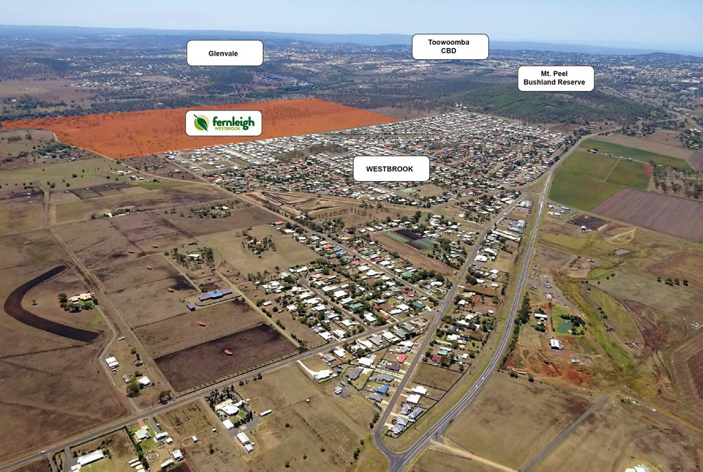 CLOSE TO APPROVAL: The Fernleigh housing estate at Westbrook, west of Toowoomba, is nearing approval from the Toowoomba Regional Council.