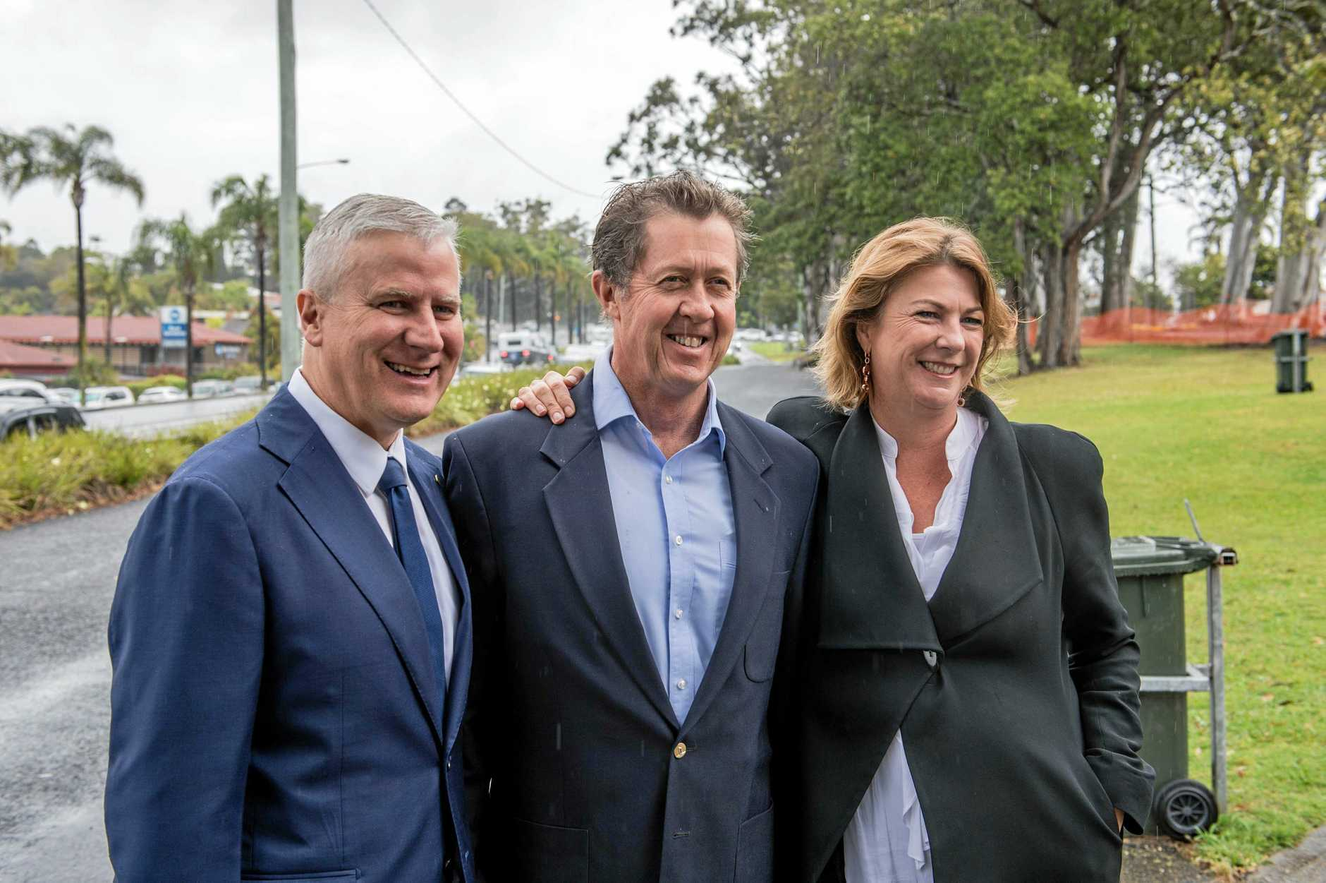 The concept design for the bypass has been released. Deputy Prime Minister and Minister for Infrastructure, Transport and Regional Development Michael McCormack, Federal Member for Cowper Luke Hartsuyker and NSW Minister for Roads, Maritime and Freight and Member for Oxley Melinda Pavey.