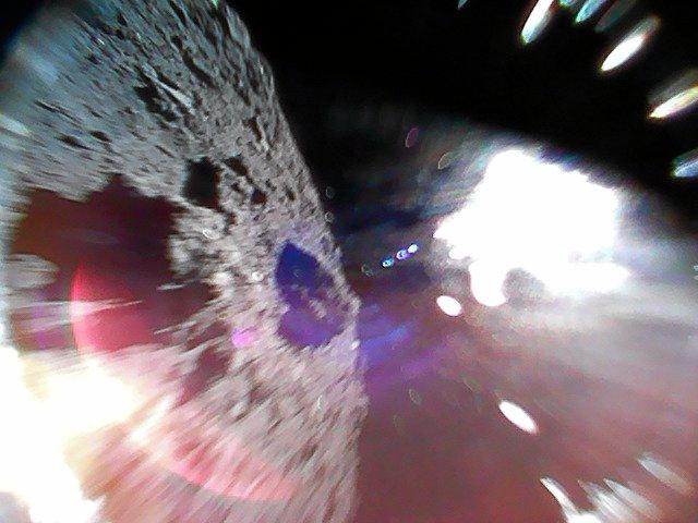 Pictures of the asteroid Ryugu taken by the spacecraft Hyabusa2