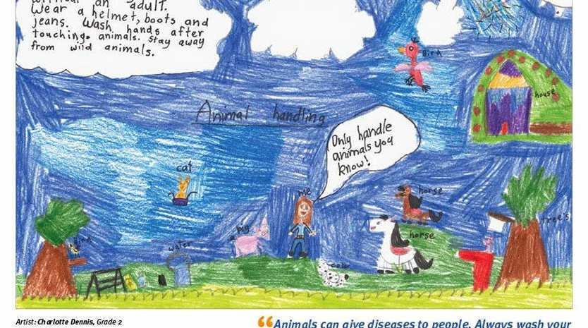WELL SAID: Jambin State School Year 2 pupil Charlotte Dennis's drawing was selected as one of 12 winners .