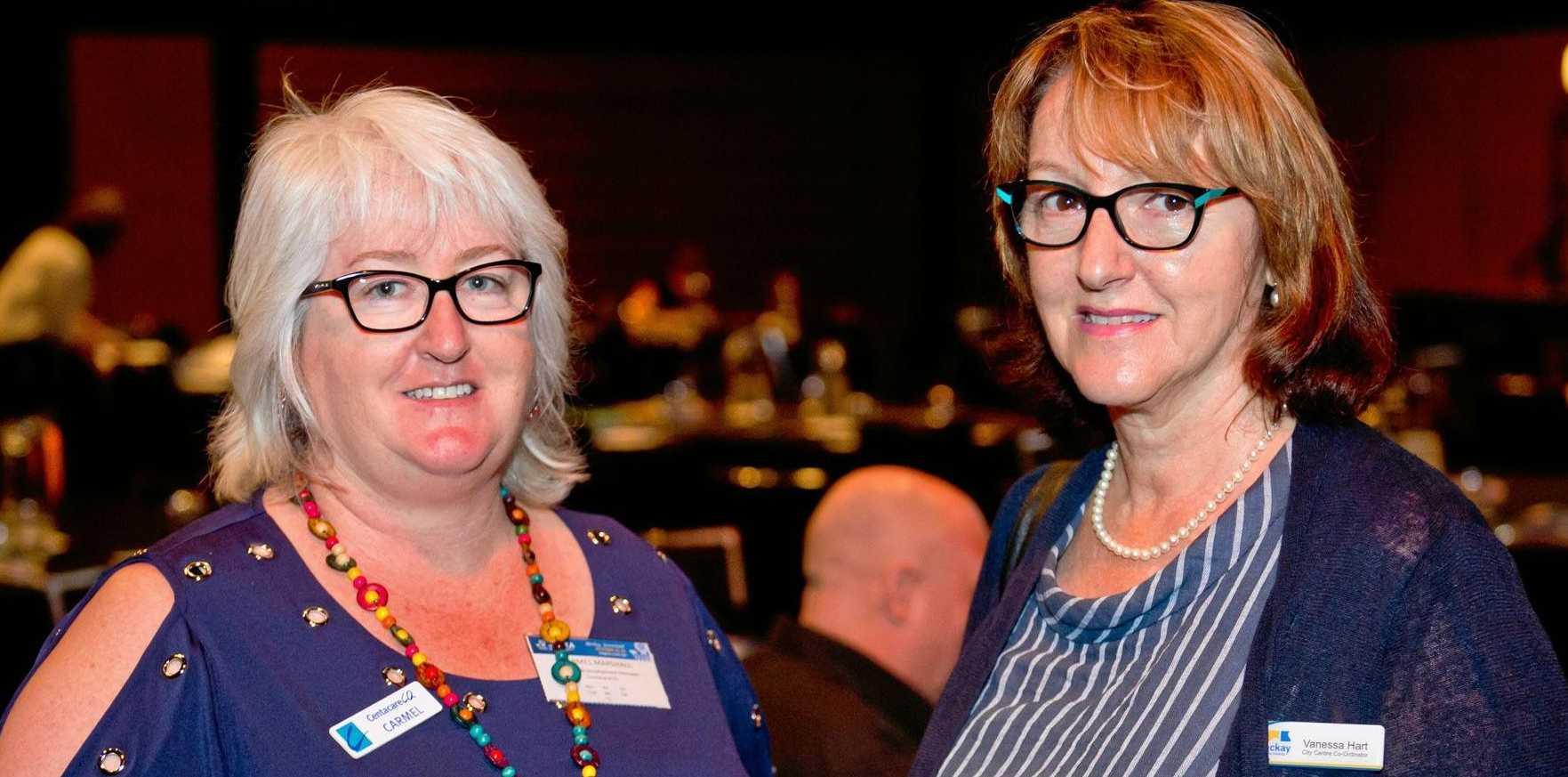 Carmel Marshall and Vanessa Hart at the SEGRA conference in Mackay.