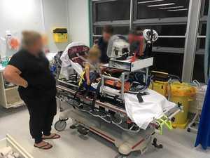 Toddler flown to hospital after suspected snake bite