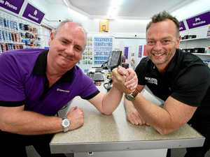 Coffs charging on for arm wrestling world record