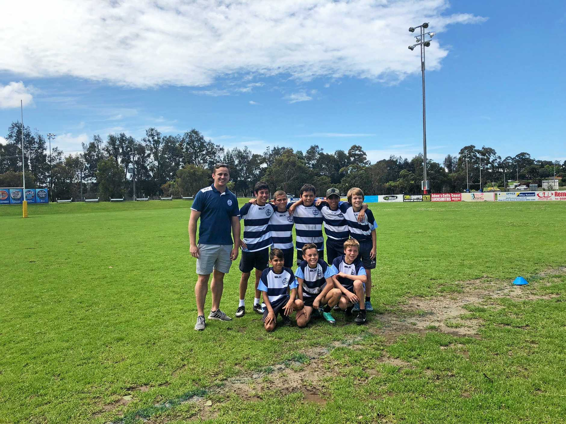 The Centaur Primary School boys' touch football team is off to the state finals in Sydney beginning Monday.